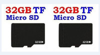Wholesale Micro Sd Tf Card 32 - Real 32GB MICRO SD Memory Card Class 6 SDHC Genuine 32 GB T flash TF Cards 32G with Adapter