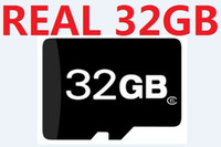 Wholesale Genuine Micro Sd Cards 32gb - Genuine 32GB micro SD HC Memory Card REAL 32 GB TF card 32 G MicroSD cards with adapter FREE DHL