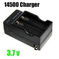 10pcs / lot 14500 Battery Charger 14500 caricabatterie caricatore wireless doppio caricatore Tutti Adapter disponibile