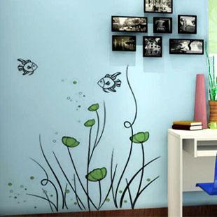 The Freedom Of Fish Wall Murals Removable Wall Decals Vinyl Stickers Home  Decoration Z 19 Wall Decoration Stickers Wall Decorations Stickers From ... Part 31