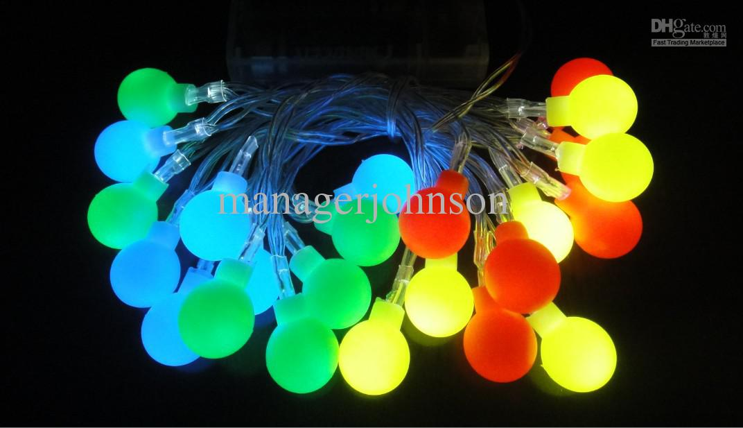 cheap 3h 24 small round ball led battery light christmas decoration lantern string light led battery string lights led string lights indoor from - Battery Led Christmas Lights