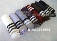 Wholesale Large Circle Scarves - Free Shipping Wholesale 10pc  lot Fashion Knitting leisure popular man scarf   stripe scarves cashme