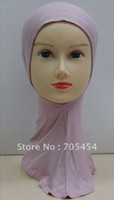 Wholesale Tartan Hijab - HW015 new style plain muslim hijab hats islamic underscarf free shipping,fast delivery,assorted colo