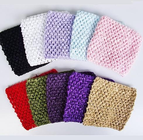 Girl Toddler Crochet Stretchy Headbands 5 Wide Updo Hair ...