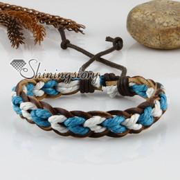 2019 coda fata del braccialetto vera pelle in cotone cerato cavo braccialetti regolabili con coulisse arcobaleno gioielli economici di moda