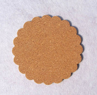 Wholesale Wood Discs - Square & Petal-shaped European Cork Coffee Cup Coasters Non-slip Insulation Pad Mats Bowl Disc