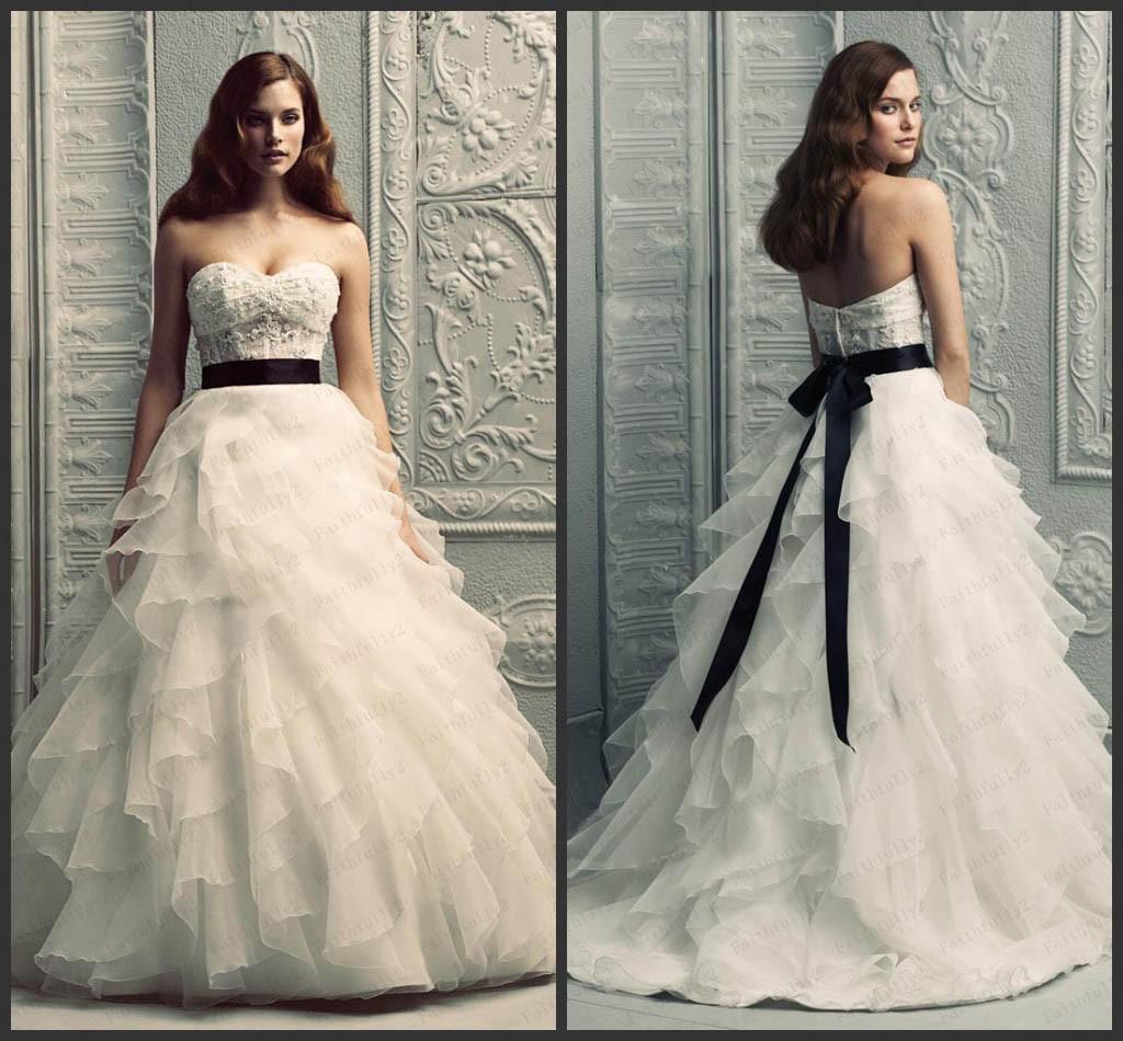 Vintage A Line Wedding Dresses: Discount Vintage A Line Wedding Dresses Sweetheart Organza