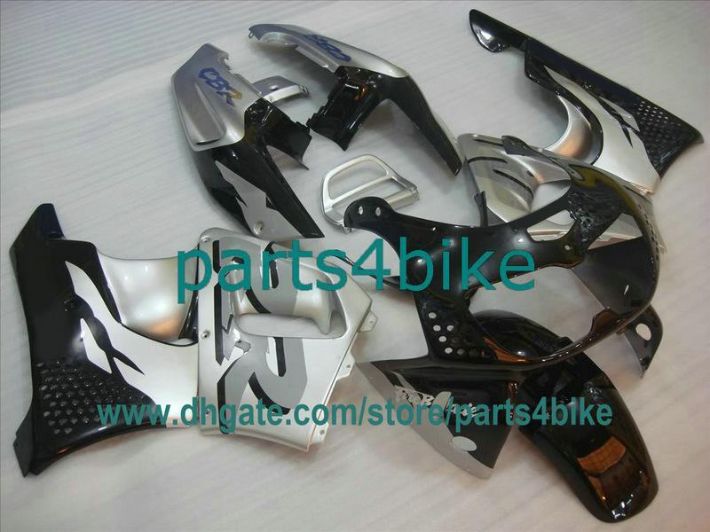 Silver fairings for 1995 1996 1997 혼다 파이어 블레이드 CBR900RR 893 95 96 97 CBR893RR CBR 900RR 차체