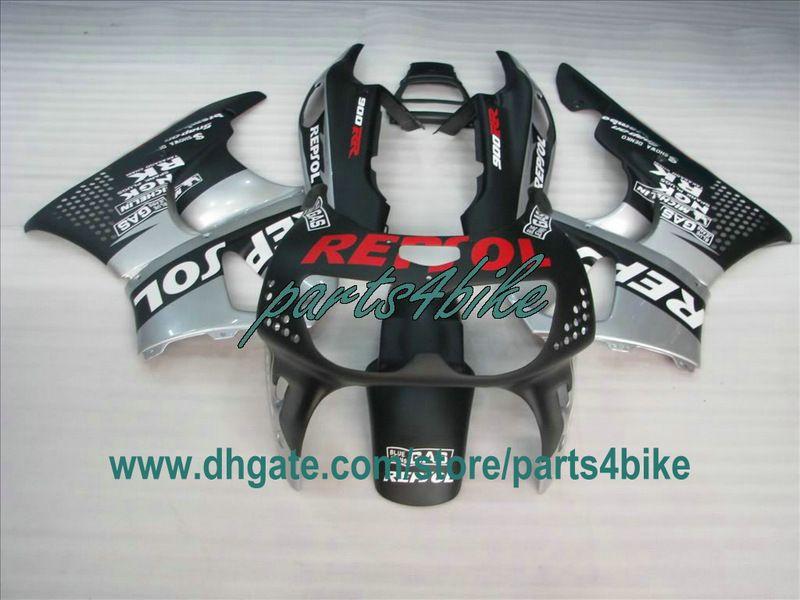 1995 1996 1997 Honda CBR900RR 893 95 96 97 CBR893RR CBR 900RR karoseri için düz siyah REPSOL kaporta