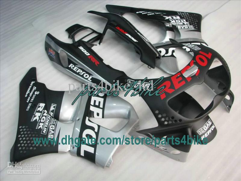 1995 년 평평한 검은 색 REPSOL 페어링 1996 년 1997 혼다 CBR900RR 893 95 96 97 CBR893RR CBR 900RR 차체