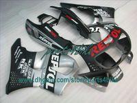 honda cbr 893 fairing toptan satış-1995 1996 1997 Honda CBR900RR 893 95 96 97 CBR893RR CBR 900RR karoseri için düz siyah REPSOL kaporta