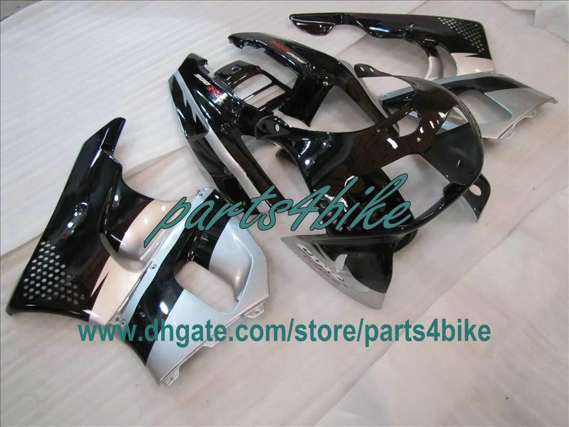Carénage ABS noir argenté pour 1995 1996 Honda CBR900RR 893 95 96 97 CBR893RR carrosserie CBR 900RR
