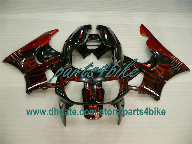 1995 1996 1997 için kırmızı alev ABS kaplaması Honda CBR900RR 893 95 96 97 CBR893RR CBR 900RR karoseri