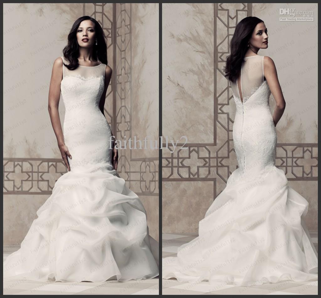 mermaid organza wedding dresses | Wedding