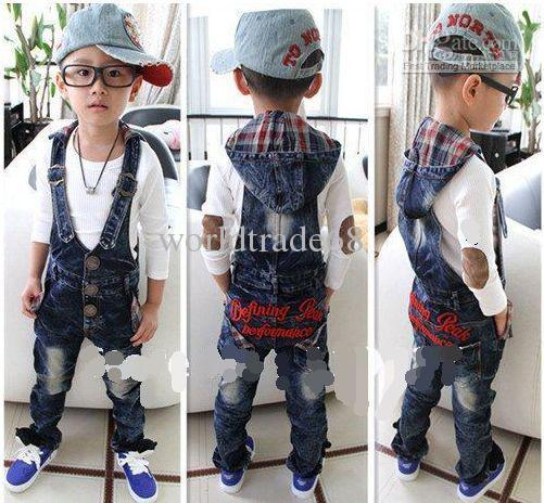 28da3bd61d1 Nwe Hot Baby Girl s Boy s Jeans Overalls Long Trousers Children Jeans  Jumpsuits Kids Denim Trouses Canada 2019 From Worldtrade68