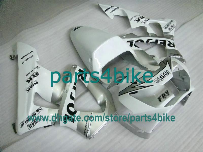 White Repsol Fairing Kit voor HONDA 2000 2001 CBR929RR Fireblace 929 00 01 CBR900RR CBR929 929RR FB2