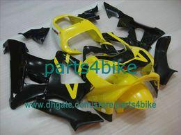 Wholesale Cbr929rr Fairing Kit - Yellow black fairing kit for Honda 2000 2001 CBR929RR 929 00 01 CBR900RR CBR929 929RR free gifts