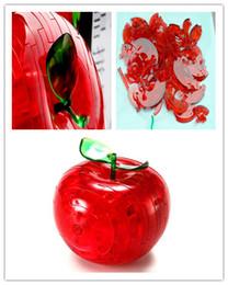Livraison Gratuite 3D Cristal Apple Puzzle Jouet Flash Cadeau Éducation Ttem Bébé Jouet ? partir de fabricateur