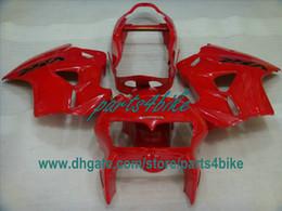 zx14 carenados rojos Rebajas Kit de carenado rojo personalizado para interceptor Honda VFR800 1998-2001 VFR800RR 98 99 00 01 carrocería