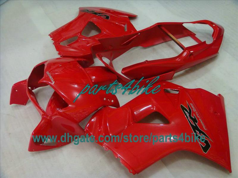 Kit de carenado rojo personalizado para interceptor Honda VFR800 1998-2001 VFR800RR 98 99 00 01 carrocería