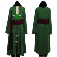 Free Shipping One Piece Roronoa Zoro Cosplay Costume custom ...