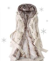 меховая одежда оптовых-Горячее надувательство!Искусственный мех подкладка Женские шубы зимние теплые длинные пальто куртка одежда Женская верхняя одежда