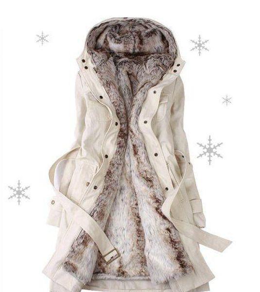 best selling Hot sell!Faux fur lining women's fur coats winter warm long coat jacket clothes Women's Outerwear