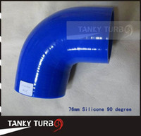 Radiator & Parts color could be customized Hainan China (Mainland) Tansky - Radiator silicone hose Universal neck:76mm Silicone 90 degree connector elbow Coupler color could be customized