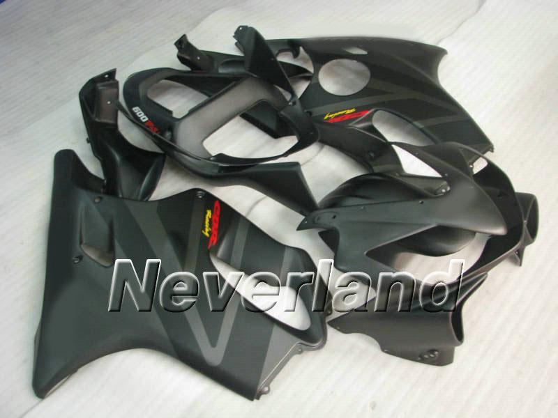 Gehele vlakke zwarte volledige kuipet voor HONDA CBR600F4I 01 02 03 CBR600 F4I 2001 2002 2003 CBR 600F4I FACEERS SET