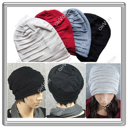 Wholesale Knit Snow Hat - S5Q Fashion Hip-Hop Men's Knit Beanie Slouch Loose Baggy Style Ski Snow board Hat cap AAABDG