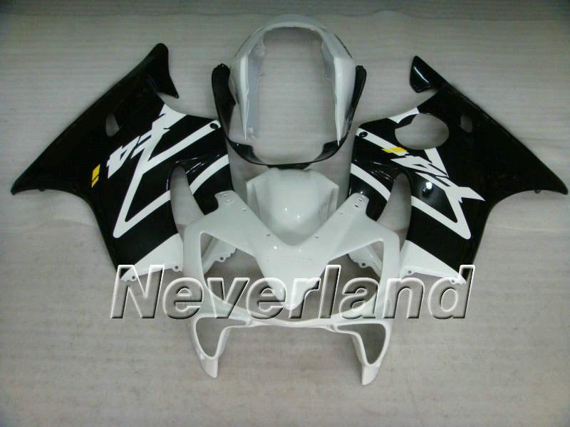 Motorcykel Fairing Kit för Honda CBR600F4I CBR600 F4I 2004 2005 2006 2007 CBR 600F4I 04 05 06 07 Vit Svart Insprutning Mögel Fairings