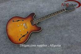 Guitarra elétrica corpo inacabado on-line-sunburst unfinished Oco jazz guitarra elétrica corpo