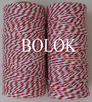 Wholesale Colored Bakers Twine Wholesale - Double colored cotton Baker twine 110yards spool (Red) 15pcs lot by free shipping