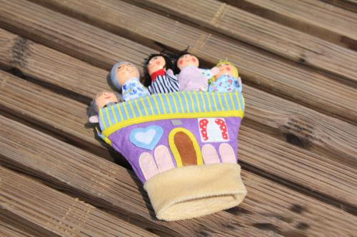 Baby Finger Toys Cloth Puppet Finger toy Kid Puppets Talking Props Wood Fingers Doll Xmas Gifts
