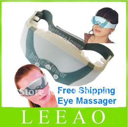 Wholesale Eye Forehead Massager - 50pcs lot Eye Mask Migraine DC Electric Care Forehead Eye Massager Free Shipping