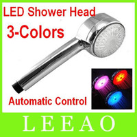 20pcs 3 Color LED Light Shower Sensor de temperatura de agua de agua que cambia el aspersor de control automático