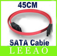 Wholesale 500pcs cm Red Serial ATA SATA HDD Hard Drive HD Data Signal Cable Lead Up to MBps