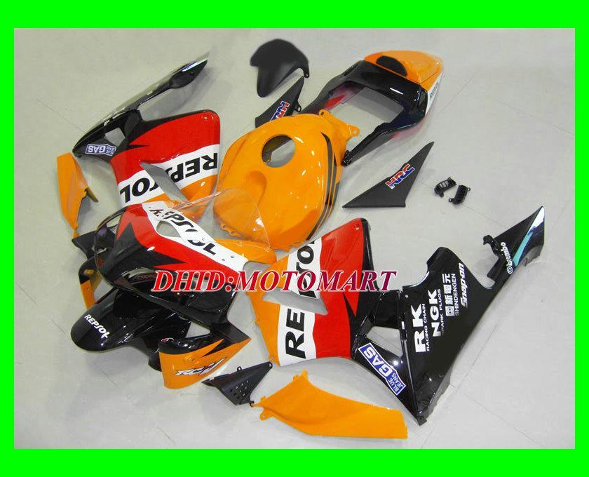Red Injection Mold Fairing Kit för Honda CBR600RR 03 04 CBR 600RR 2003 2004 CBR 600 F5 FAININGS SET