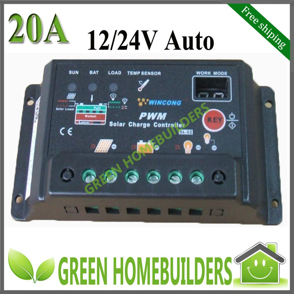 New 20a Solar Charge Controller Regulator 12v 24v Autoswitch Micro Waterproof Led Street Light Pwm Circuit Wind Turbines Portable Generator From Sunhome 1659