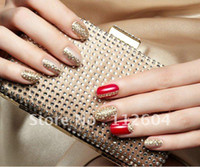 Wholesale Sticker 3d Nail China - China post air 100 pcs New 54 selected Color diamond 3D Nail Art Sticker nail sticker Temporary Stic