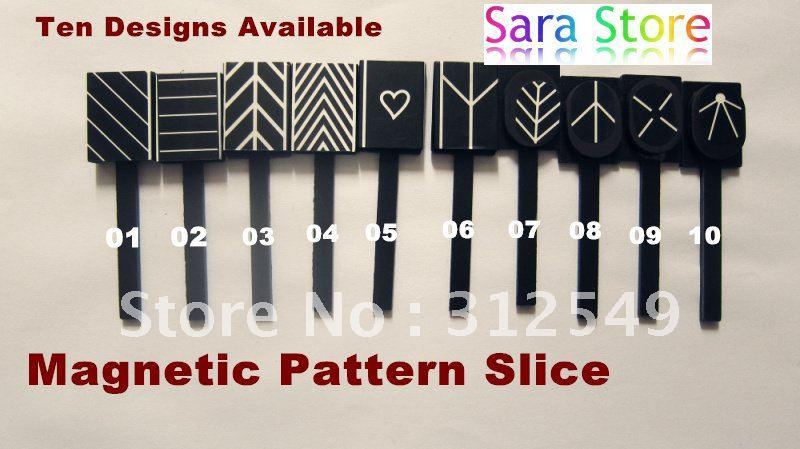 10 Designs Available Magnetic Slice Use With Magnetic Nail Polish ...