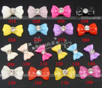 Wholesale Nail Caviar Bag - Free Shipping 200pcs bag Black Resin Bowknot Nail Art Decoration Cellphone Decoration Bow Decoration