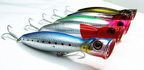 Gratis frakt 13cm 36g Poper Lure Fiske Lure Hård Plast Bait Floating VMC Hook Five Colors Välj