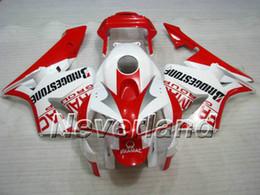 Spritzgegossene cbr verkleidungen online-Neuestes rot-weißes Spritzguss-Verkleidungskit für HONDA CBR600RR 03 04 CBR 600RR 2003 2004 CBR 600F5 Verkleidungsset