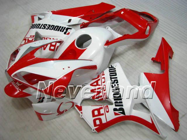 최신 적색 흰색 사출 성형 혼다 용 CBR600RR 03 04 CBR 600RR 2003 2004 CBR 600F5 용 페어링 키트