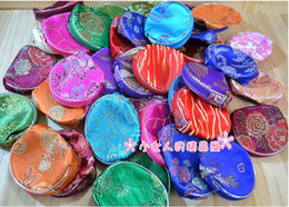 Wholesale Embroidery Purse Coin - Embroidery silk Wallet   coin purse Multi-functional small packets women's handbags Gril bags