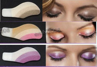 Wholesale Eyeshadow Tattoos - Fashion Instant Eyeshadow Magic Eye Sticker Tattoos 10 boxes lot (1box=6 pairs=12 pcs)