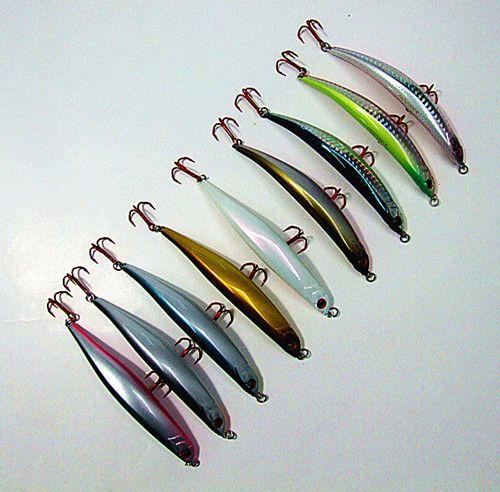 11 cm 10g y 8 cm 6.5g señuelo de la pesca cebos de plástico duro minnow Bait Bending forma VMC gancho suspender dos tamaños