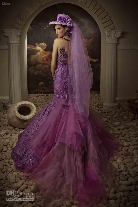 2021 Vintage schöne Nixe Besten Entwurf-dünner kundenspezifische Brautkleider SpitzeAppliques Klassischer Crystals Gericht Zug Ärmel Brautkleid