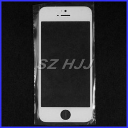 Wholesale Parts For Iphone Glass - For iPhone5 5S 5C Front Outer Glass Lens Touch Screen Cover for iphone 5 5S 5C repair parts black white